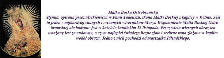 MATKA BOSKA OSTROBRAMSKA