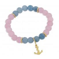 Blue Candy - agat, kwarc - kotwica