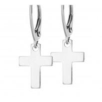 Kolczyki srebrne - Krzyżyki