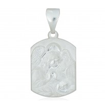 Anioł stróż medalik srebrny