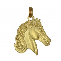 Koń srebrny pozłacany