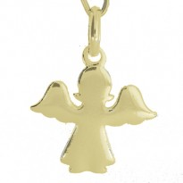 Aniołek srebrny pozłacany