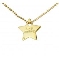 Naszyjniki Gwiazd - Keep smiling - gwiazdka
