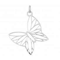 Motyl ażurowy srebrny