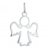 Anioł ażurowy srebrny