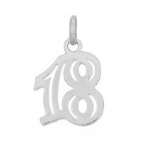 '18' zawieszka srebrna