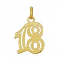 '18' zawieszka srebrna pozłacana