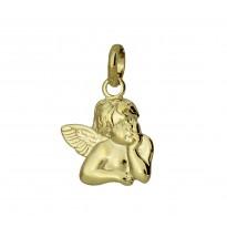 Aniołek zawieszka srebrna pozłacana