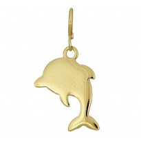 Delfinek srebrny pozłacany