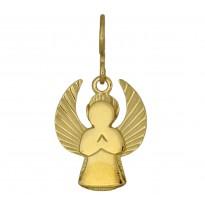 Aniołek srebrny pozłacany diamentowany