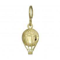 Balon zawieszka srebrna pozłacana