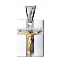 Medalik z wizerunkiem Jezusa na krzyżu