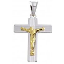 Krzyżyk srebrny z pasyjką
