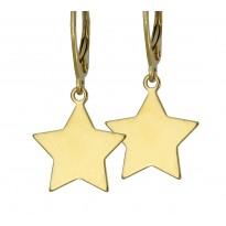 Kolczyki srebrne - gwiazdki