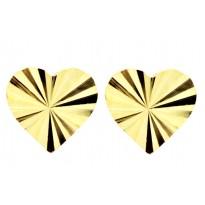 Kolczyki diamentowane serca
