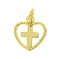 Zawieszka Krzyżyk w sercu