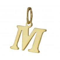 Literka pozłacana M