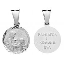 Medalik Pamiątka Pierwszej Komunii Świętej