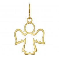 Anioł XXL srebrny pozłacany