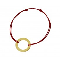 Koło na bransoletce sznurkowej
