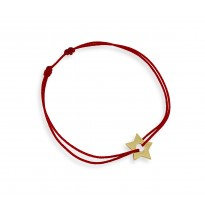 Gwiazdka na bransoletce sznurkowej