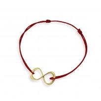 Znak nieskończoności na bransoletce sznurkowej