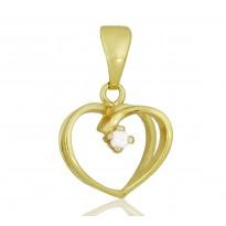 Serce z białą cyrkonią