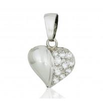 Serce z białego złota